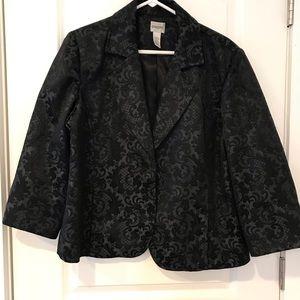 Chico's black patterned blazer